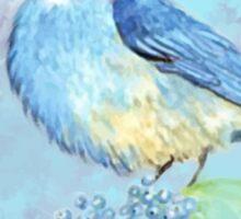 Watercolor Bluebird Blue Bird Art Sticker