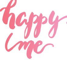 Happy Me Watercolor Brush Lettering Flowers Sticker