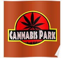 Cannabis park style jurasisic Poster