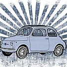 Fiat 500 Topolino with Blue Sunburst by surgedesigns