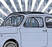Fiat 500 Topolino with Blue Sunburst Sticker