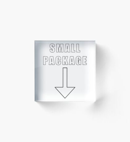 Small Package Acrylic Block