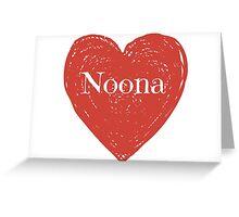 Noona Heart Greeting Card