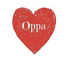 Oppa Heart Photographic Print