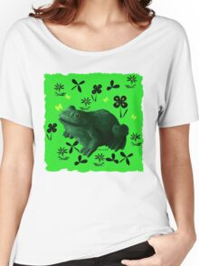Froggy in Clover... or Shamrocks? Women's Relaxed Fit T-Shirt