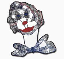 Clown Portrait One Piece - Short Sleeve