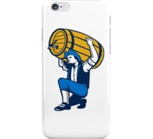 American Patriot Lifting Beer Keg Isolated Retro iPhone Case/Skin