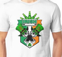 St. Patrick's Day Irish Skulls: Ireland Flag Unisex T-Shirt
