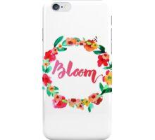 Bloom Watercolor Brush Lettering Flowers iPhone Case/Skin