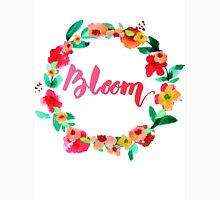 Bloom Watercolor Brush Lettering Flowers Unisex T-Shirt