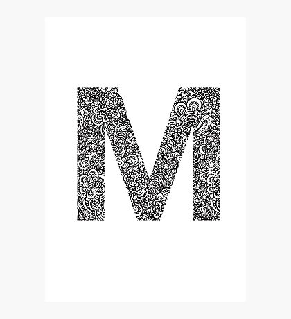 M Photographic Print