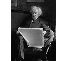 Mark Twain - American Author and Humorist  Photographic Print