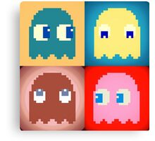Pixel Pac-Man Ghosts Canvas Print