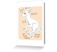 Startled Deer! Greeting Card