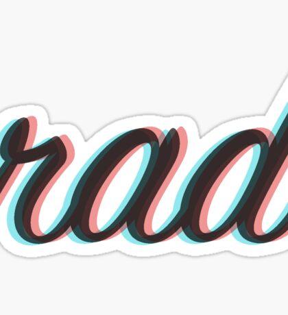 Rad 3D Sticker