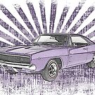 1968 Dodge Charger Purple Sunburst by surgedesigns