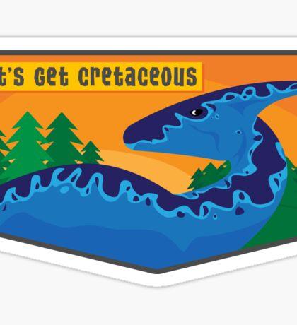 Cretaceous Parasauralophus Sticker