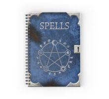 Spellbook Blue Spiral Notebook