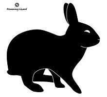 Sly Rabbit Silhouette Photographic Print