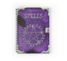 Spellbook Purple Spiral Notebook
