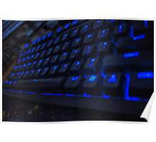Cool Blue Keyboard Poster