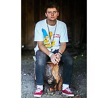 Mac DeMarco on a Stump Photographic Print