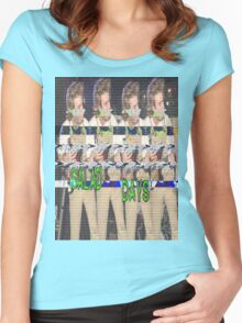 Salad Days Glitch Women's Fitted Scoop T-Shirt