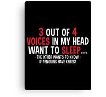 voices penguin Canvas Print