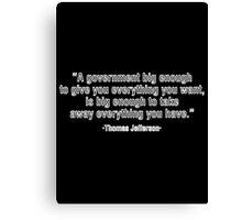 thomas,Funny,Cute,Humor,Joke,Quote,Motivation,Typography Canvas Print