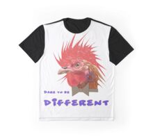 Dare to Be Different on White Graphic T-Shirt