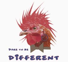 Dare to Be Different on White Kids Tee