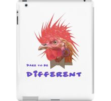 Dare to Be Different on White iPad Case/Skin