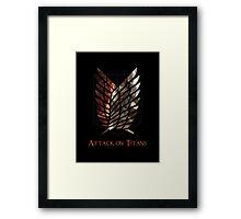 Survey Corps - Titans Framed Print