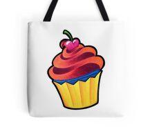 Cupcake Orange and Blue Tote Bag