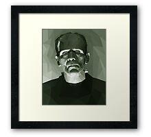 Frankenstein in Low-Poly Framed Print