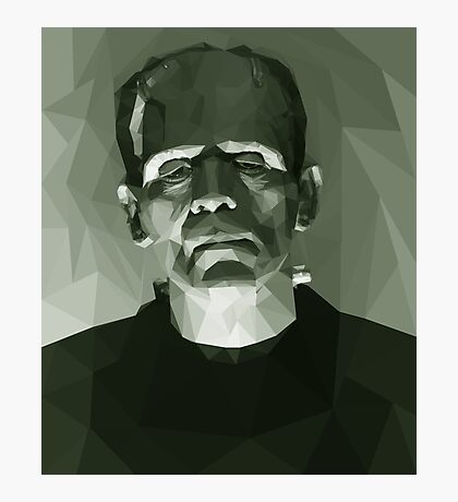 Frankenstein in Low-Poly Photographic Print
