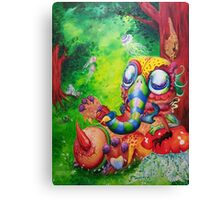 Surreal Painting Creature in the forest Canvas Print