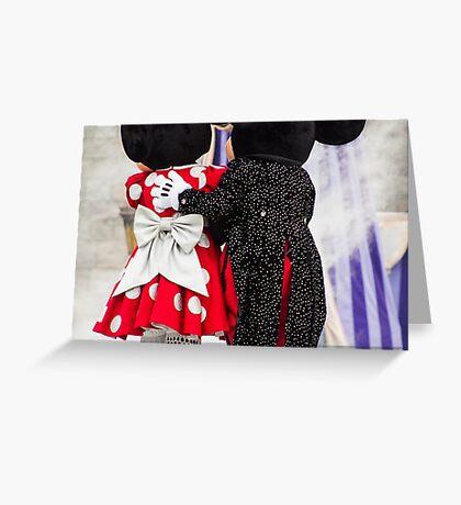 Mickey and Minnie Greeting Card