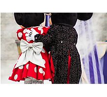 Mickey and Minnie Photographic Print
