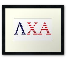 Lambda Chi Alpha USA Flag Framed Print