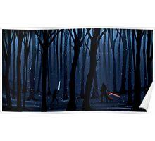 Kylo Ren & Finn Forest Star Wars Poster