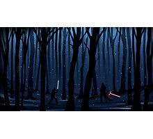 Kylo Ren & Finn Forest Star Wars Photographic Print
