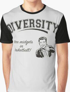 Diversity - Midgets in Basketball Graphic T-Shirt