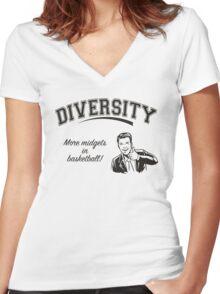 Diversity - Midgets in Basketball Women's Fitted V-Neck T-Shirt