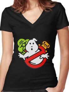 Bape Milo A Beating Ape X Ghostbuster Women's Fitted V-Neck T-Shirt