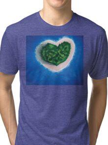 Heart Island  Tri-blend T-Shirt