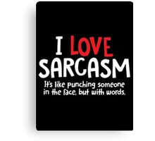 sarcAsm words Canvas Print