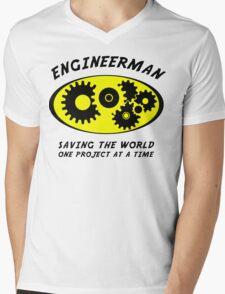 Engineerman Mens V-Neck T-Shirt