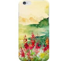 Watercolours on paper iPhone Case/Skin