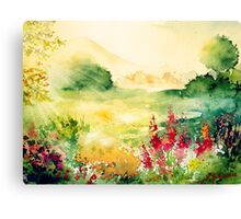 Watercolours on paper Canvas Print